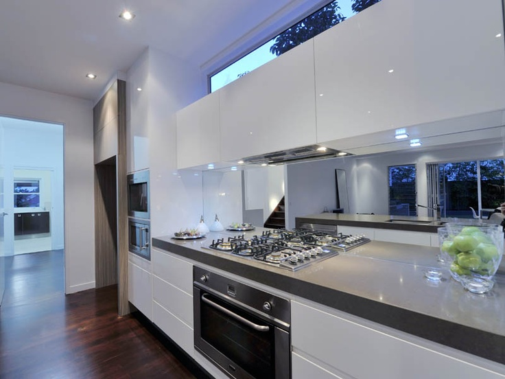 Mirror Splashback in Kitchen Woodrow Project by Luisa Interior Design