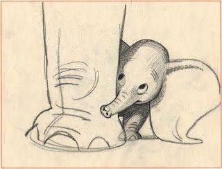 Dumbo concept art by Bill Peet