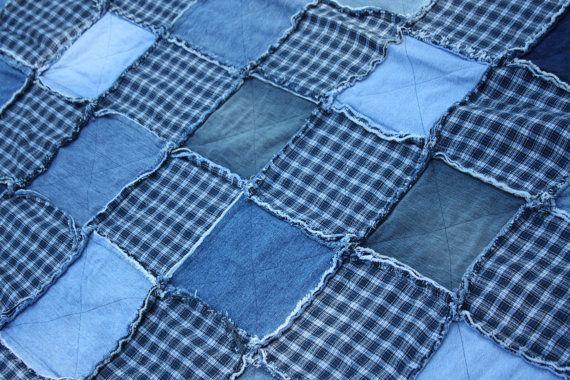 Pictures Of Blue Jean Rag Quilts Jean Quilt Denim Rag