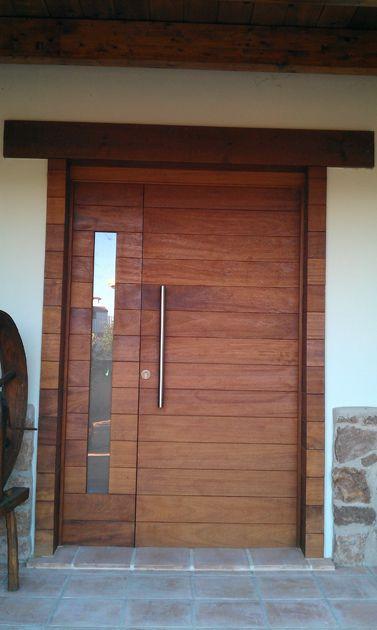 Las 25 mejores ideas sobre puertas principales de madera for Puerta zaguan aluminio