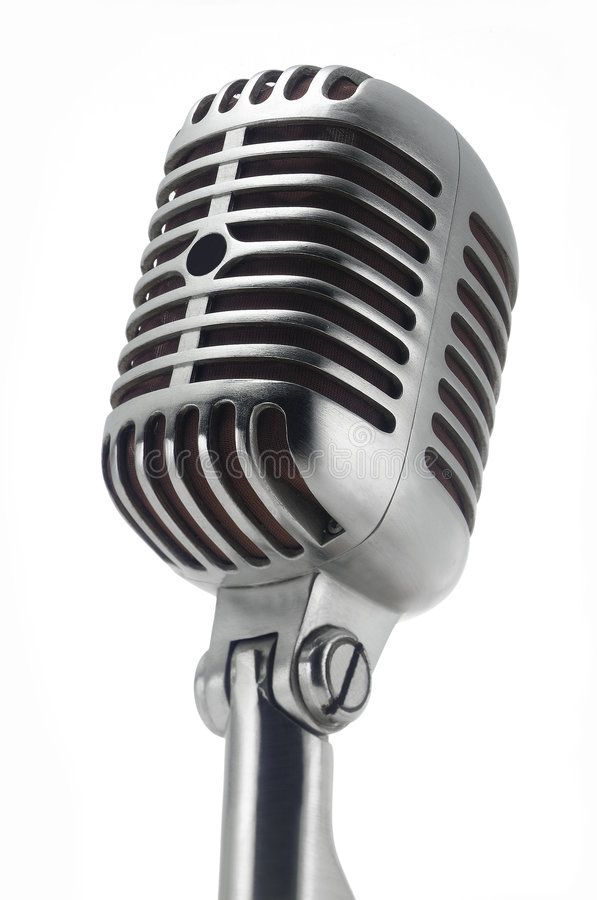 Vintage Microphone On White Stock Images Image 4568394 Vintage Microphone Microphone Tattoo Old Microphone