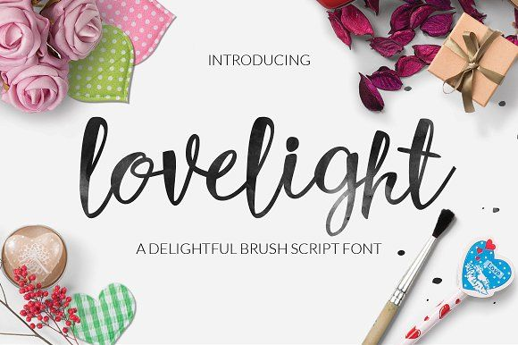 Lovelight Typeface by Font & Graphic Land on @creativemarket