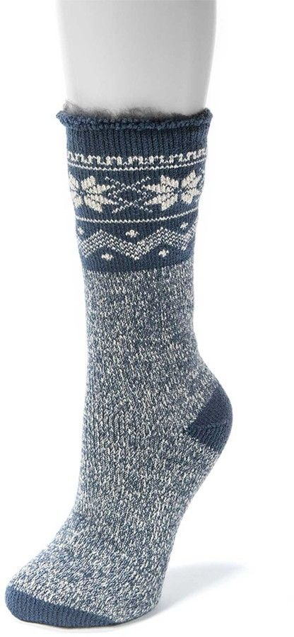 Muk Luks Heat Retainer Thermal Insulated Socks