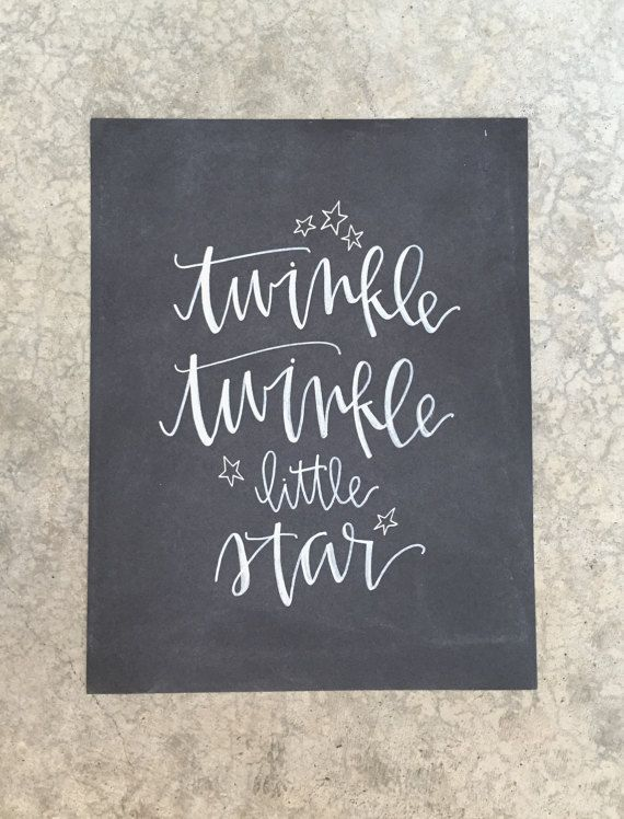 Hand Lettered Modern Calligraphy Twinkle Twinkle by inkandrye
