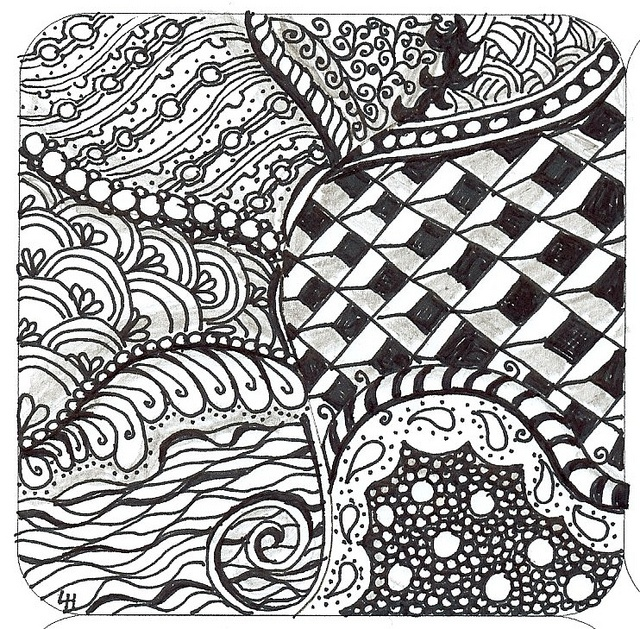 Lori first zentangle by lacefairy1, via Flickr
