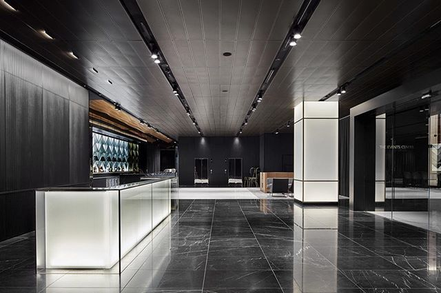 Strong Hospitality design typology has been applied with foyer, bar and dining spaces exuding a rich, enduring palette | @collins_square and Events Centre Melbourne | Photo courtesy of @peterclarkephoto