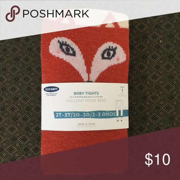 Old Navy Tights - New in Package New in package toddler tights from Old Navy featuring a darling fox design. Old Navy Accessories Socks & Tights