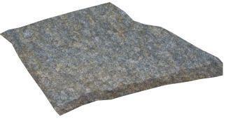 Dalle pierre naturelle Pierre de Luzerne opus incertum quartzite mordorée Cave Gontero - ép. 20/40 mm