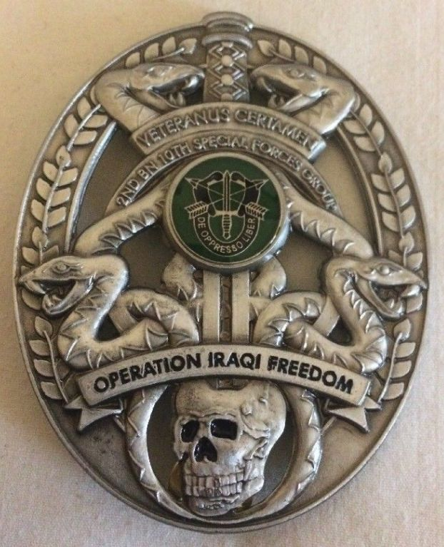 2nd BN, 10th Special Forces Group, Operation Iraqi Freedom Badge E26