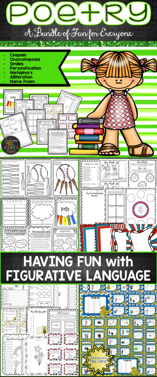 17 best ideas about figurative language activity figurative language and poetry activities and task cards