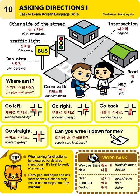 10 learn korean hangul Asking Directions 1