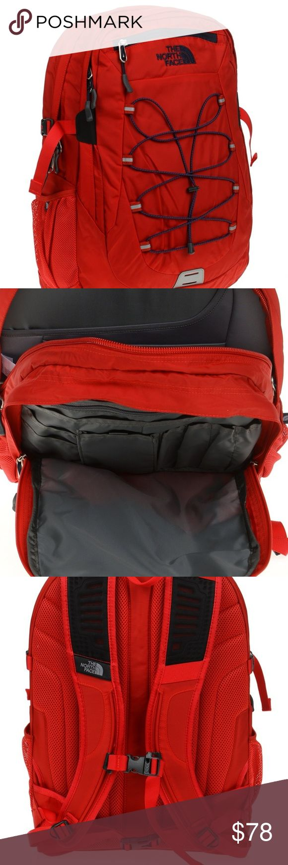 North Face Borealis Backpack Unisex – Red / Navy N…