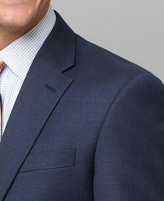 Tommy Hilfiger Suit Separates Blue Sharkskin Trim Fit - Suits & Suit Separates - Men - Macy's <$300