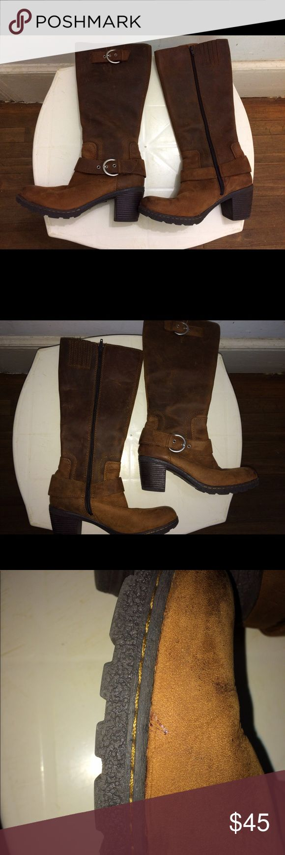 Women's Boc Born concepts Boots Hi Poshers, selling a pair size 8.5 Born Concepts cowboy boots. Barely used once as you can see the bottom of the boots. Their over the calf, zip up brown leather boots. Thanks for looking! Born Concepts Shoes Combat & Moto Boots