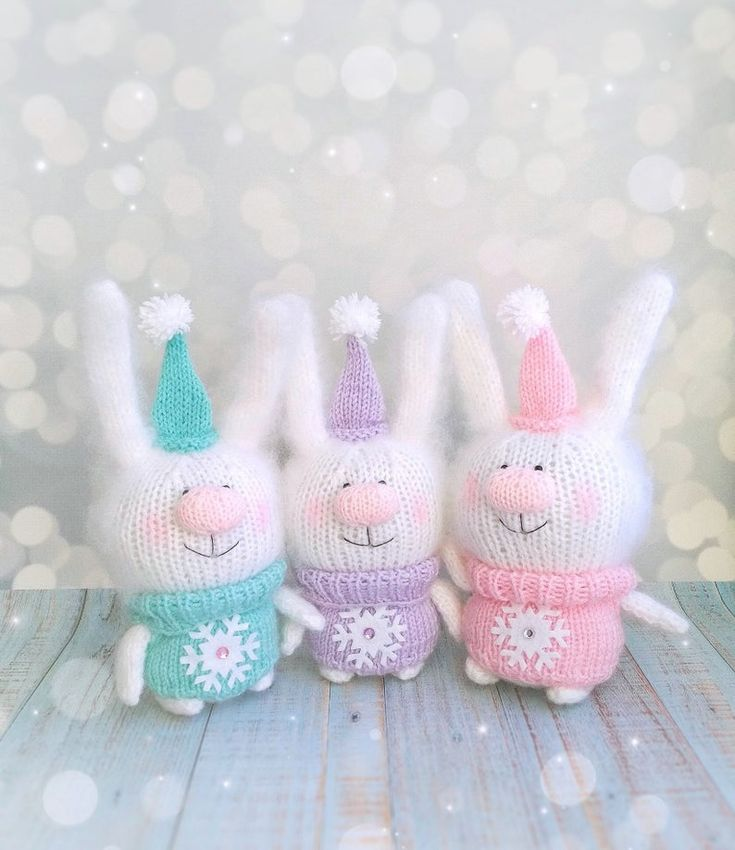 Christmas toy bunny, amigurumi toy bunny, cute bunny, bunny plush, soft bunny, knit bunny, rabbit toys, stuffed bunny, christmas ornament