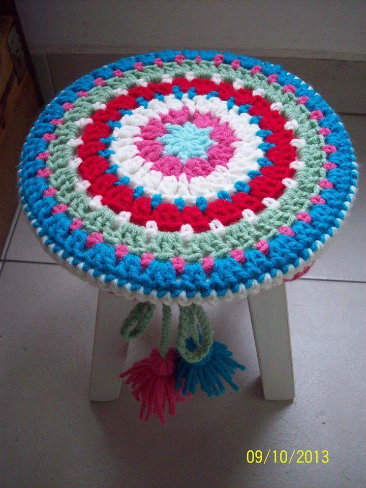 Banquitos Redondos Con Funda En Crochet