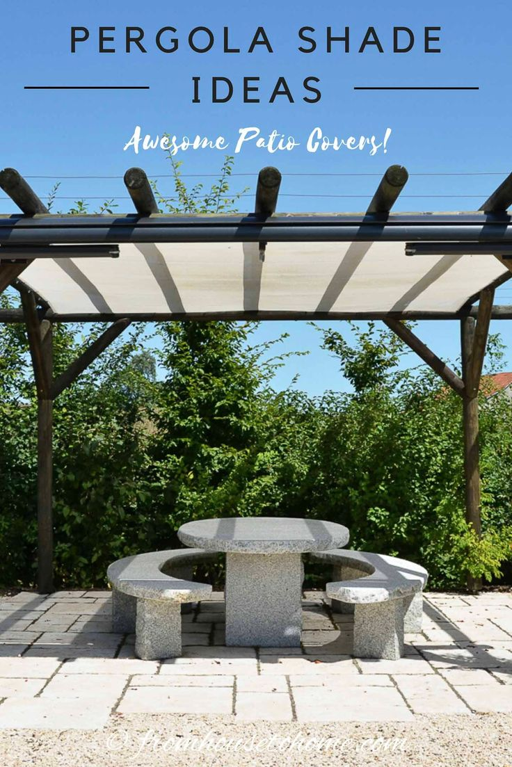 DIY Pergola Cover Ideas: 7 Ways To Protect Your Patio From ... on Patio Cover Ideas For Rain id=19886