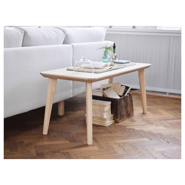 Lisabo Table Basse Plaque Frene 118x50 Cm Ikea Table Basse Ikea Table De Salon