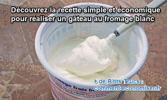 Que diriez-vous d'un délicieux gâteau tout blanc, fondant et moelleux à souhait, léger et doté d'une touche de fraîcheur ?  Découvrez l'astuce ici : http://www.comment-economiser.fr/gateau-fromage-blanc-recette-simple-economique.html?utm_content=buffer1b619&utm_medium=social&utm_source=pinterest.com&utm_campaign=buffer