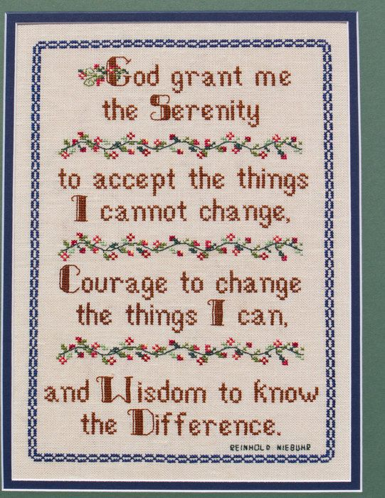 Serenity Prayer God - Wisdom, Courage - pdf Cross Stitch Saying by Lady Robins Nest on Etsy, $4.00