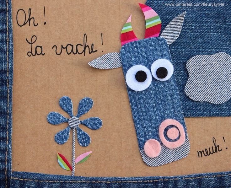 Oh la vache ! Recyclage des pantalons #jeans #recycle http://pinterest.com/fleurysylvie/mes-creas-la-collec/