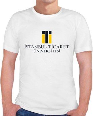 İstanbul Ticaret Üniversitesi - Logo - Kendin Tasarla - Erkek Bisiklet Yaka Tişört