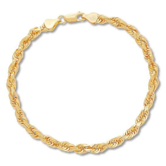 Men S Rope Chain Bracelet 10k Yellow Gold 9 Approx 5 5mm Jared In 2020 Gold Chains For Men Bracelets For Men Mens Gold Bracelets