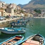 The colorful boats of the fishermen