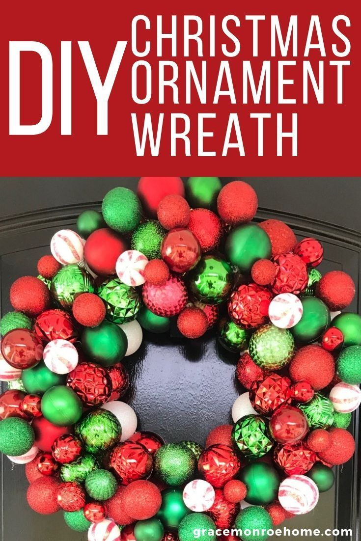 How To Make A Christmas Ornament Wreath Ornament Wreath Christmas Ornament Wreath Diy Wreath