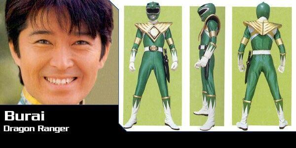 Full Name:Burai, Ranger Designation:Dragon Ranger, Henshin Device:DinoBuckler, Weapons/Gear:Zyusoken, Dragon Shield, Shogozyu:Dragon Ceaser