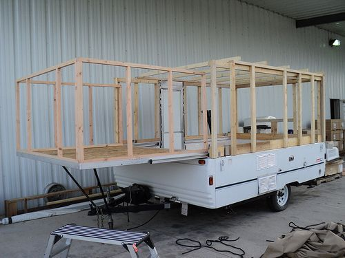 Decorating A Pop-Up Camper | Structural ideas for converting a pop up camper