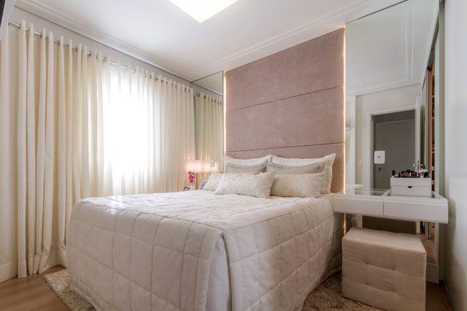 3 quartos de casal para se inspirar Veja três projetos diferentes de quartos charmosos e elegantes