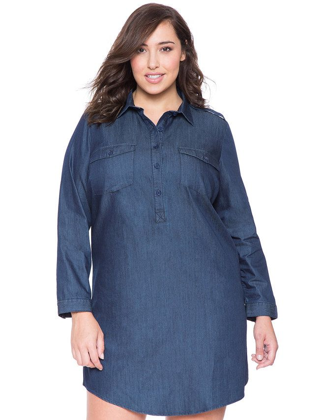 Shop blue chambray top at Neiman Marcus, where you will find free shipping on the latest in fashion from top designers.