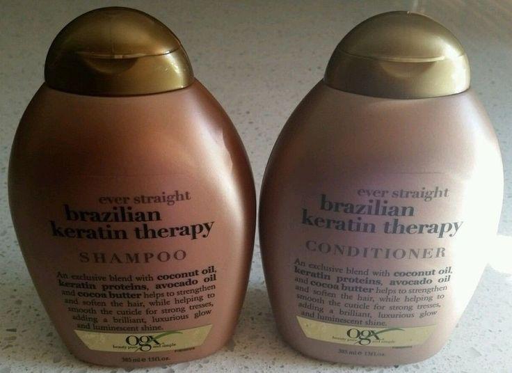 Ever Straight Brazilian Keratin therapy Shampoo and Conditioner, 385ml each