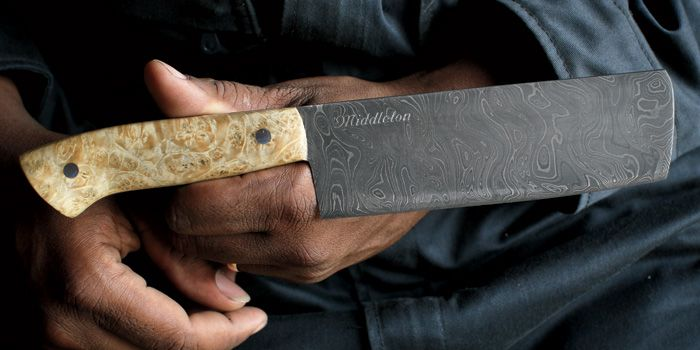 Best chef's knife you will find.  Handmade right in the South.  Ben has the pairing knife and loves it.