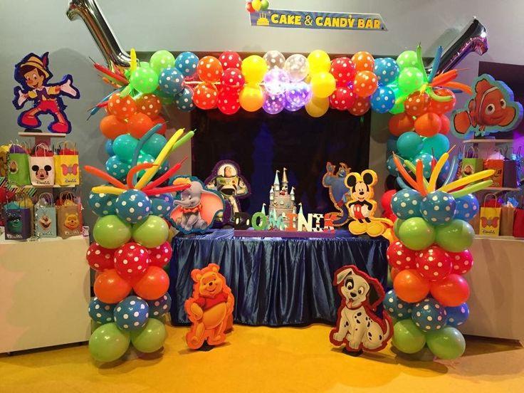 Disney Theme Party Balloon Arch Baby Boys 1st Birthday