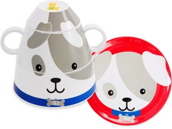 Puppy 4pc Stackable Dinner Sets (Retired)