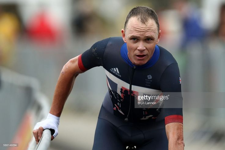 Christopher Froome of Great Britain reacts after competing in the Cycling Road Men's Individual Time Trial on Day 5 of the Rio 2016 Olympic Games at Pontal on August 10, 2016 in Rio de Janeiro, Brazil.