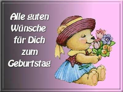 С днем рождения поздравления на немецком картинки, виртуальные