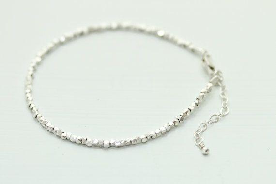 Sierlijke Zilveren armband minimalistische armband