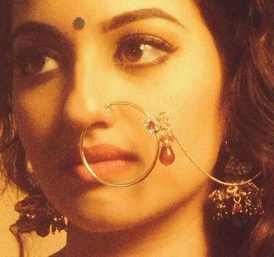Rajasthani nose ring: The nath reminds me of Bani Thani