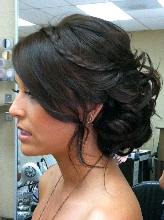 Up do for long hair with braid!