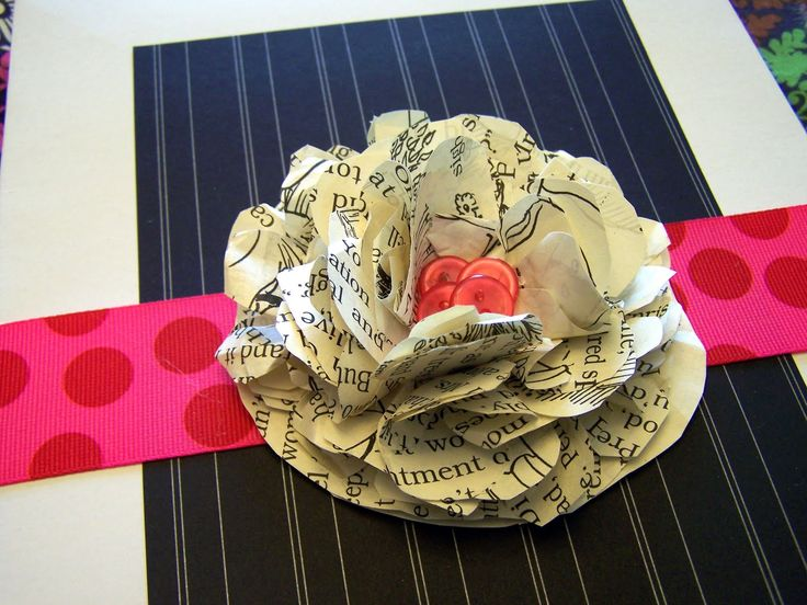 Paper Flower: 25 :, Gift Wrapping, Bought Gift, Awesome Blossoms, Paper Flowers, Wrapping Ideas, Book Flower, Flower Tutorial