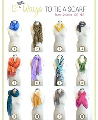 I am Extremely scarf tying challenged. This trend will probably be an ancient art form by  the time I master it! - How to Tie a Scarf