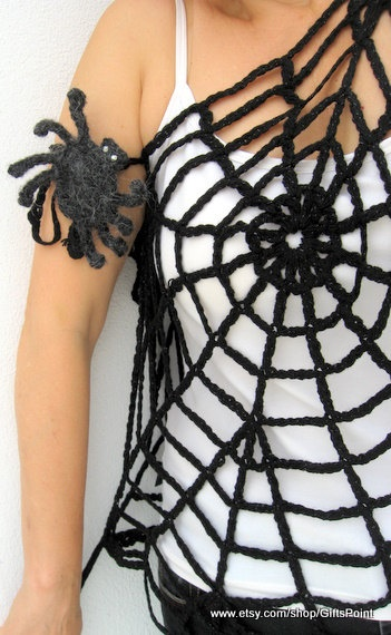 Gothic Dress Black Spider Web Top Transformer by GiftsPoint, 24.99 I would scare myself all day long! NEVER in a million years!!!! Lol