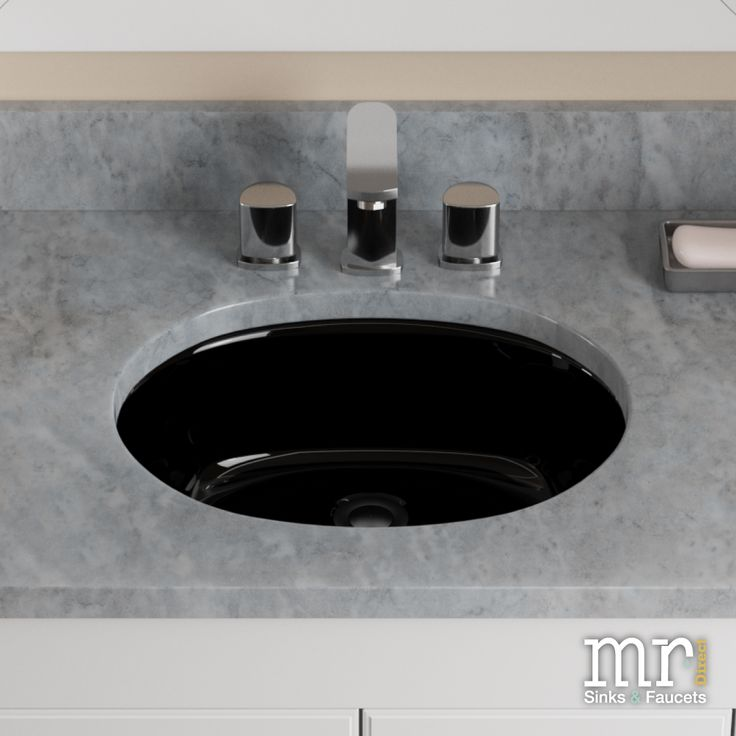 MRDirect Porcelain Oval Undermount Bathroom Sink With Overflow Sink Finish:  Black