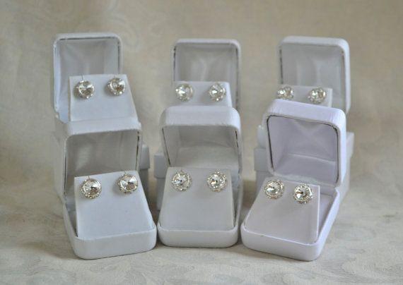 Bridal PartySwarovski clear crystal earrings by CreativityAtPlay, $76.00
