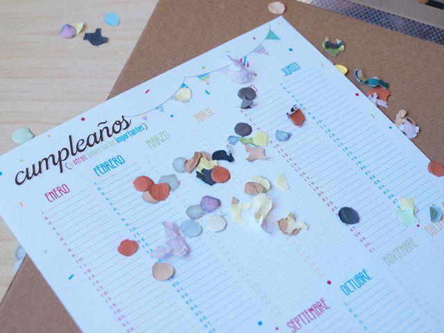 imprimible: calendario de cumpleaños | milowcostblog♥