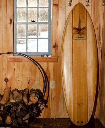 This is awesome!    Channel Islands Biscuit wooden surfboard