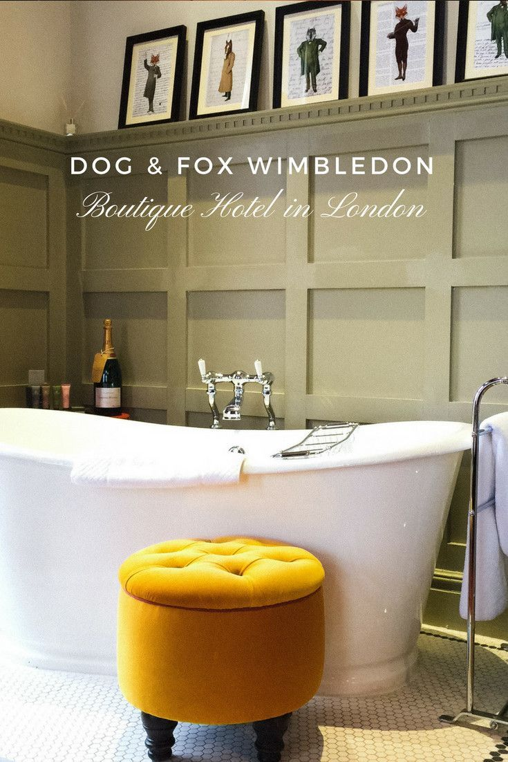 Dog and Fox Boutique Hotel in Wimbledon is a cosy and stylish place when you want to enjoy Londons Village life or watch the Tennis